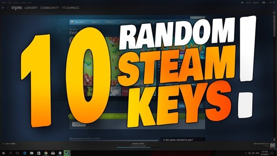 10 Random Steam Game Keys!