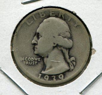 1939D U.S. Washington Quarter-90% Silver!