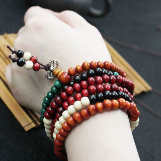 [GIN FOR FREE SHIPPING] Sandalwood Buddhist Buddha Meditation Prayer Bead Mala Bracelet