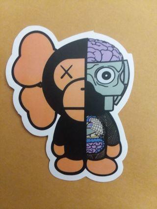 Monkey Sticker