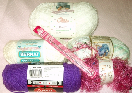 Free Yarn More Yarn 5 Different Types Plus A Crochet Hook Free