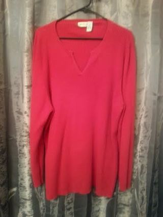 Womens 3X Red Sweater VERY NICE EUC! Think Valentines Day!! <3 <3 <3