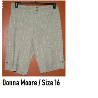 $52.99 Donna Moore Plus Size 16 Plaid -Gwen Pants Capri Cropped Slacks **Cute**