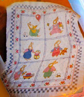 Free: Vintage Bucilla Daisy Kingdom Stamped Cross Stitch Kit ... : bucilla cross stitch baby quilts - Adamdwight.com