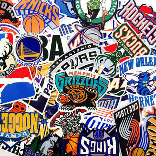 30Pcs Graffiti NBA Basketball Team Club Stickers Guitar Skateboard Waterproof