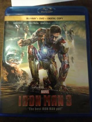 Iron Man 3 bluray DVD combo