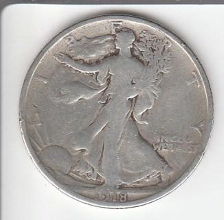 1918-S Silver Half $