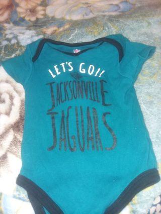 2 Baby NFL Jacksonville Jaguars onesie size 12m