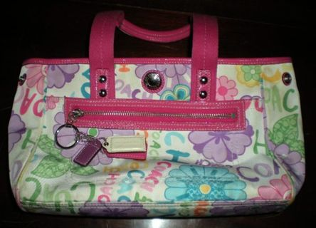 Free authentic coach purse fun flowers other clothing listia authentic coach purse fun flowers mightylinksfo