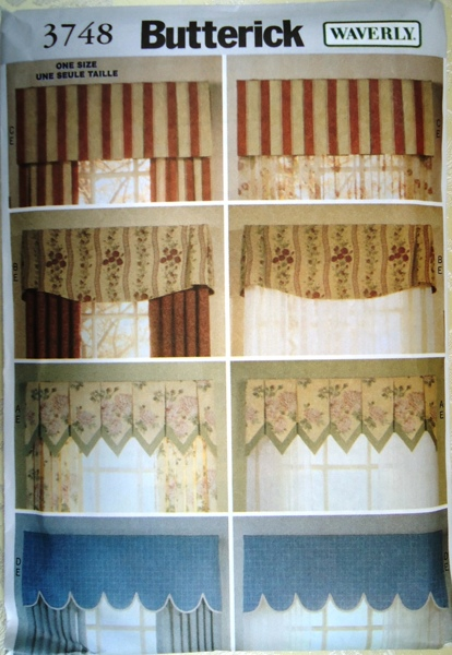 Free Window Valances Sewing Patterns 3 Butterick 3748