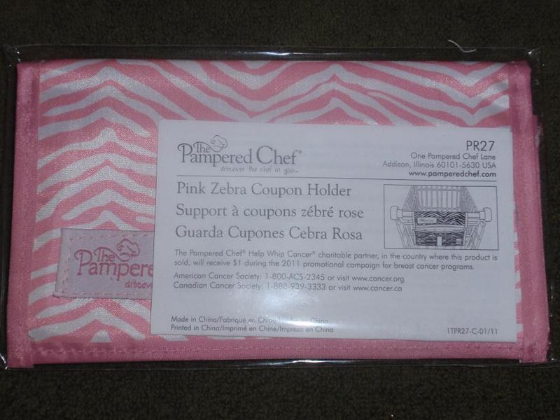 The Listing New In Package Pampered Chef Pink Zebra Holder T Cancer Awareness Has Ended