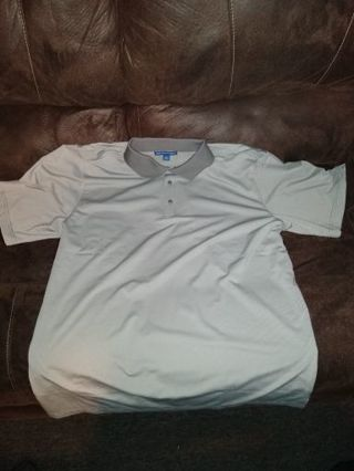 XL Port Authority Polo Shirt (White/Grey)