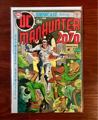 Showcase featuring Manhunter 2070 15 cent Cover Silver Age DC MINT