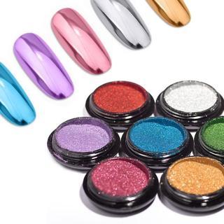 Nail Art Glitter Mirror Titanium Powder Metallic Manicure Chrome Dust Pigment