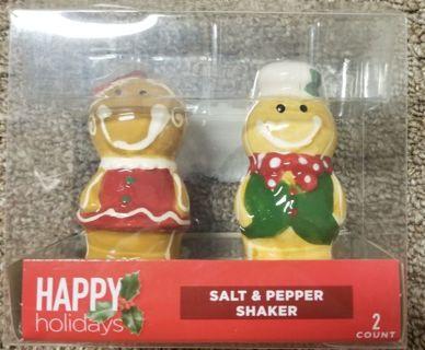 Christmas Salt & Pepper shaker. Brand new in package. Never used.