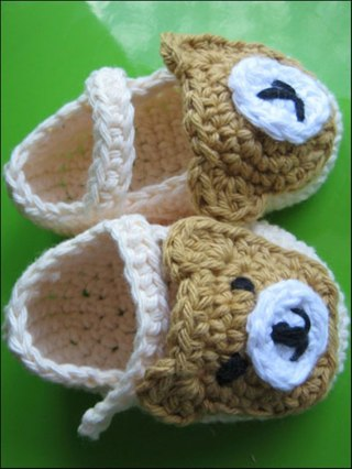 Free: Custom made Bear booties / Hand knit baby booties ...
