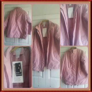 Pink Microfiber Jacket, Med, nwt