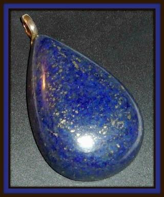 Lovely Lapis Lazuli Gemstone Cabochon Pendant 95ct!