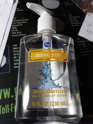 Unopened Kroger 8 Ounce Hand Sanitizer & One Mask + Bonus Throw Ins Tier Auction
