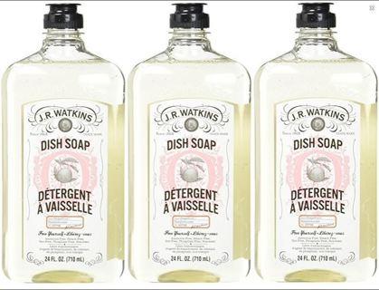 NEW J.R. Watkins Liquid Dish Soap, Grapefruit 24 Oz. (Pack of 3) FREE SHIPPING
