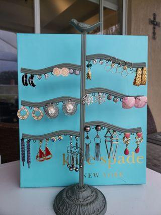 20 pairs of pre owned pierced earrings