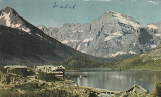 Vintage Used Postcard: 1959 Many Glacier, Glacier National Park, Montana