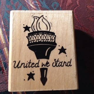 UNITED WE STAND rubber stamp crafts scrapbook