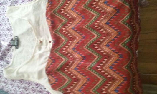 Chevron Aztec Inspired Summer Blouse
