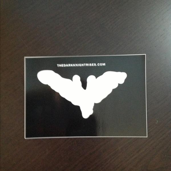 Free Batman The Dark Knight Rises Chalk Bat Symbol Bumper Sticker