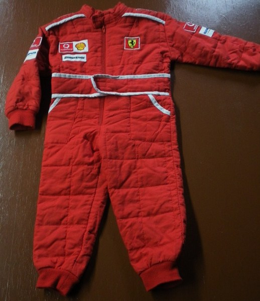 Free Boys Size 5 6 Genuine Ferrari Red Quilted Mechanics