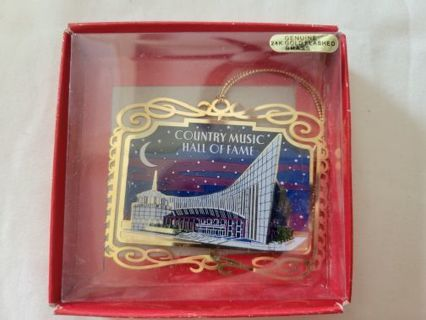 Nation's Treasures Country Music Hall of Fame Xmas Ornament