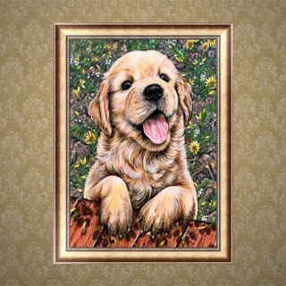 5D Diamond Embroidery Painting DIY Decoration Art Cross Stitch Craft Lovely Dog
