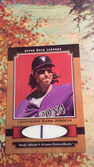 4 Card Relic Lot - Randy Johnson - Hof + 3 Others