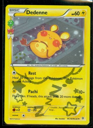 Pokemon Card Dedenne RC10/RC32 Uncommon Holo Pokemon CARDS Anime Manga TCG