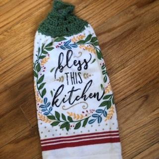 Hand Crochet Stove/Oven Towel .