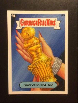 """2012 Topps Garbage Pail Kids Sticker Card #26b """"GROUCHY OSCAR"""" See Photos for More Details."""