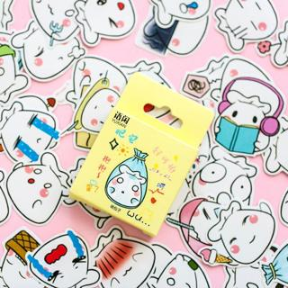Cute Kawaii Custom Paper Small Japanese Diary Stickers Scrapbooking Flakes Stationery Teacher Supp