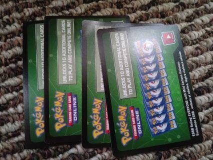 4 pokemon tcg codes