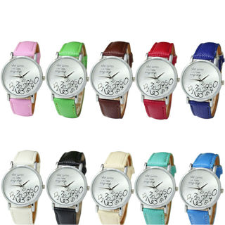 Fashion Watch Women Leather Watch Who Cares I am Late Anyway Letter Wristwatches