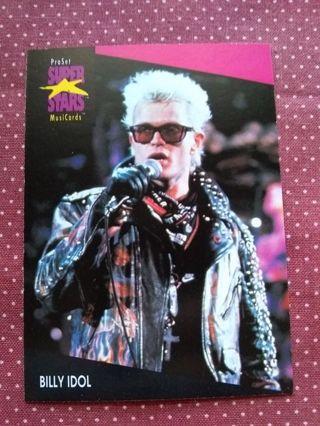 Pro Set Super Stars Music Cards Trading Card Billie Idol