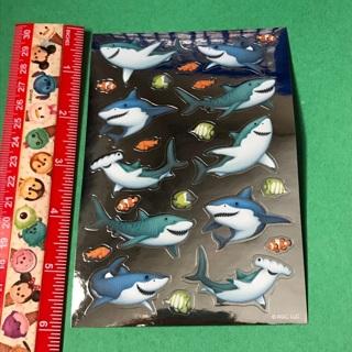 Sharks Metallic shiny sticker sheet #1 NEW