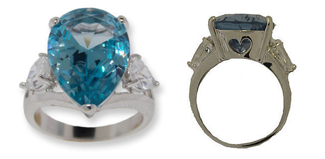 PEAR SHAPED CUBIC ZIRCONIA WHITE, BLUE TOPAZ OR YELLOW FANCY STONE DESIGNER JEWELRY AT IT'S BEST