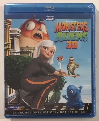 Monsters vs. Aliens 3D Blu-Ray DreamWorks Movie - Brand New Factory Sealed!