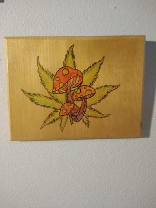 Pot leaf plaque