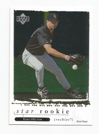 Free Todd Helton Star Rookie 1997 Upper Deck Baseball Card 260
