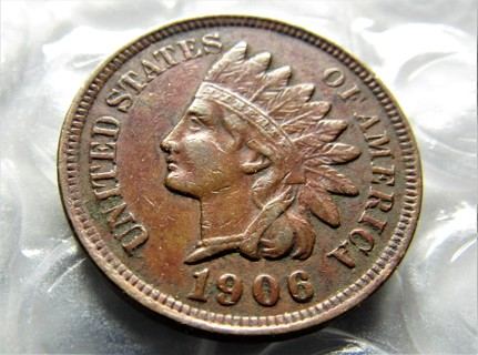 "★★ ""VF"" 1906 INDIAN HEAD CENT ★★ **113 YEARS OLD**"