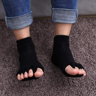 [GIN FOR FREE SHIPPING] 1Pair Sports Yoga Massage Five Toe Separator Socks