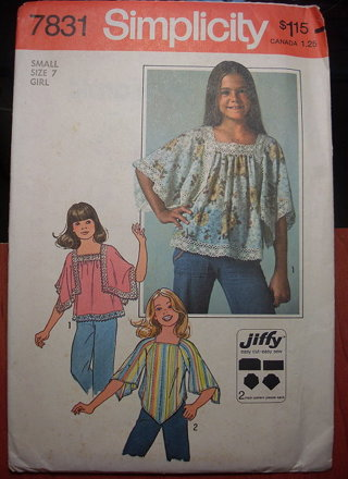 Free: Girl\'s Handkerchief/Boho/Peasant Blouse Sewing Pattern ...