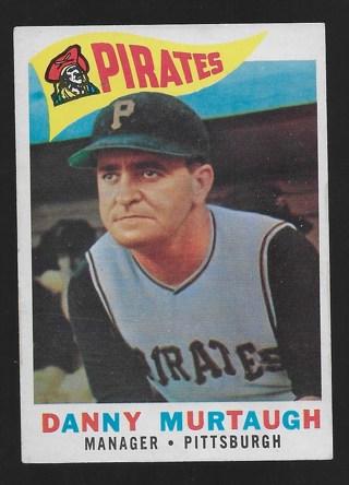 1960 Topps 223 DANNY MURTAUGH Vg Condition