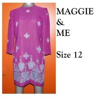 $75.00 Dress Maggie & Me Ladies Sz 12 BEAUTIFUL Purple-New From my friend NateyCakes!!